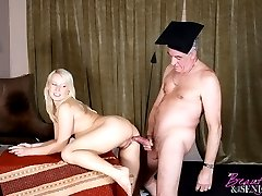 Blonde girl drilled by fart