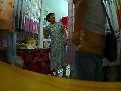 A függöny bolt néni Villogó