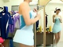 قرنية اليابانية عاهرة جونكو هياما في الغريبة اللحس, الرياضة JAV كليب
