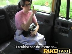 FakeTaxi Black-haired with glasses pays the price for being rude