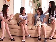 اليابانية القضيب مشترك من قبل مجموعة من قرنية النساء 1