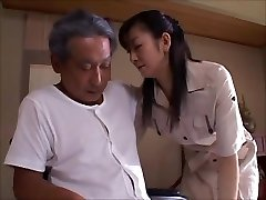 japanese wifey widow takes care of father in law  Two