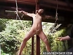 Asian Bondage outdoor (uncensored)