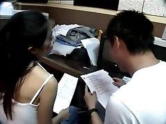 التايوانية الزوجين تأخذ استراحة من الدراسة