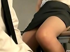 Office Woman In Pantyhose Riding On Guy Face Fingered On The Floor In The Of