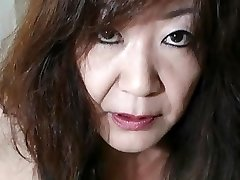 Japanese Granny displays Tits and Cunny