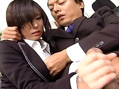 Assistant slut Satomi Maeno blows dinky uncensored