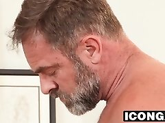 Horny stepdad Kristofer Weston takes son-in-law Dannys big chisel