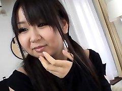 Demure oriental schoolgirl enjoys harsh gang-bang sex