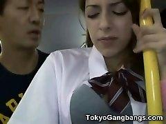 לבן נוער אוטובוס ציבורי סקס ביפן!
