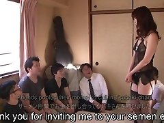 Subtitled Chinese AV star Tsubaki Katou gokkun soiree