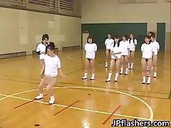 Supah scorching Japanese girls flashing