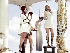 Roman damsel hanged