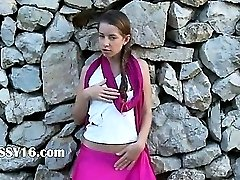 princess from Russia stripping outside