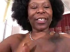 Busty African Mature Has Humungous Hooters!!