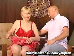 80 year old grandmother luvs younger cocks!
