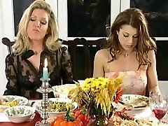 Sapphic dinner and spanking party