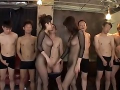 Exotic Japanese whore in Best Fishnet, First-timer JAV clip