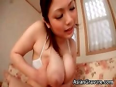 Great brunette asian babes with big tits part2