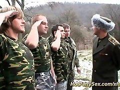 Dame gets soldiers cum