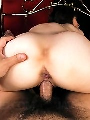 Rio Kagawa Asian has asshole fucked with different vibrators