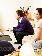 Ruri Hayami Chinese teases her assets at shower and gives blowjob