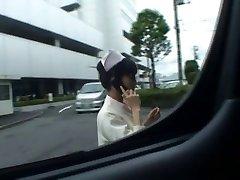 Super sexy Giapponese infermiere succhiare