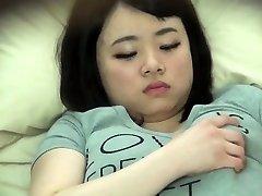 Chubby asiatiska spionerade på