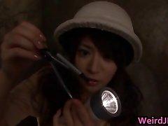 Asian women at erotic broadcasts