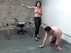 asiatico boss ball busting slave