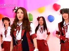 Japansk Nakna Flickor Band