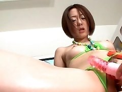 Curly Asian Babe Bizarre Insertion Fisting