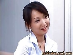 Sexy skutečné asijské Shiho dostat sperma part3