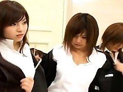 Sottotitolato Giapponese nudisti gruppo ano ispezione lineup