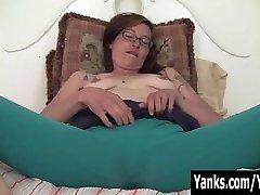 Tattooed Sylvie Masturbating Her Shaggy Cum-hole