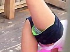 Spying on hot cousin while she exercises pt 1