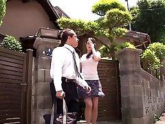 Iznenađujuće japanski djevojke riže Murakami u lude mlade sise, Oldie scena jau