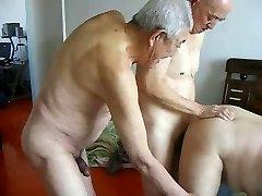Two granddads fuck grandpa