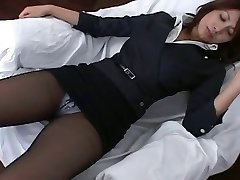 Pantyhose Japanese Office Chick Teasre
