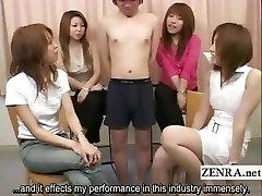 Subtitled Japanese CFNM tiny fuckpole exam party