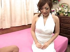 Dude squeezes honey's juicy tits before banging her