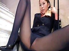 Japanese stocking upskirt