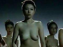 ヌードの中国の女子格闘