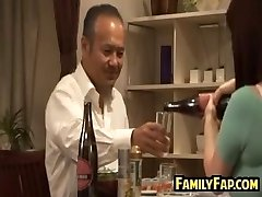 Big-chested Asian Step Daughter