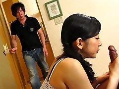 Emiko Koike in Emiko Koike is fuckin' her step-sonnie and his best friend - AviDolz