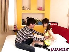 asian porn industry star Miku Airi gets her melons spunked