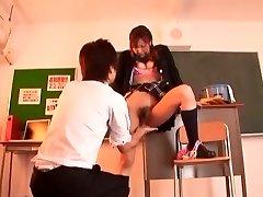 Exotic Japanese slut Misa Ando in Amazing Sitters, Cheerleaders JAV clip