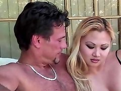 Blondie Asian Whore Is Doing Her Duty Sucking Beef Whistle