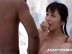 Asian drill by two black pricks - ASIANPORNDADD