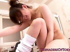 Japanese teenie climaxes in classroom